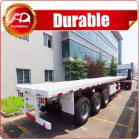 China Cheap 3 axle 40ft or 20ft used trailer container flatbed truck trailer and semi trailer container for sale on sale