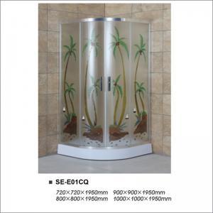 Buy cheap Popular Corner Bathroom Shower Enclosures Aluminium Alloy Frame For Hotel product