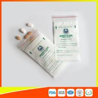 Buy cheap LDPE Clear Medical Ziplock Pill Bags For Hospital / Drugstore Disposable product