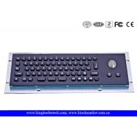 Quality IP65 Stainless Steel Black Compact 66 Keys Metal Keyboard With Trackball for sale