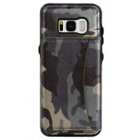 Galaxy S8 Samsung Leather Wallet Case Crazy Horse Original Camouflage Color