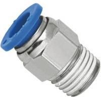 Buy cheap Brass Nickel Planting Straight Pneumatic Push To Connect Fittings With NPT Threaded product