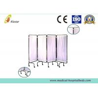 Buy cheap 4 Folding Steel Frame Hospital Privacy Screens Medical Pvc Bed Screen For Patients (ALS-WS08) product