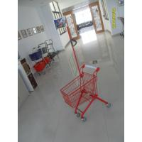 Buy cheap Green Powder Coating 33 Liter Metal Kids Shopping Carts With Flag from wholesalers