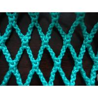 Buy cheap Green HDPE Decorative Fishing Net , Durable Knotless PE Rope Netting Fabric product
