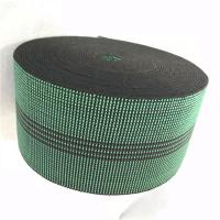 Buy cheap 3 Inch Covered Threads Elastic Rubber Upholstery Webbing For Function Sofa In Green Color 460B# product