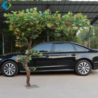 Buy cheap Inside Decor Artificial Maple Tree With Led Lights Green Leaves No Deformation product