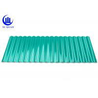 Buy cheap Heat Insulation Green Plastic Roofing Sheets Tiles 1.0 Mm Thickness product