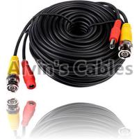 China 20 Meters BNC Coaxial Cable DC Power Cable Black Color For CCTV Camera DVRs on sale
