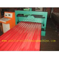 Buy cheap CE Corrugated Roof Panel Roll Forming Machine PANASONIC Transducer For Chain Drive product
