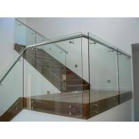 Buy cheap Modern style frameless glass balustrade with patch fittings/stainless steel handrails balustrade product