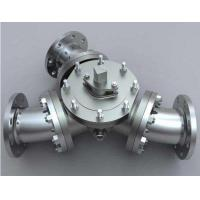 Buy cheap CS A216 WCB CF8M/SS316 CL150 Flanged Muti-port Three way L port or T port Ball from wholesalers