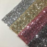 Buy cheap Modern Silver Sequin Fabric , Sequin Lace Fabric Sparkly Mesh Garment Applied product
