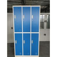 Buy cheap Durable Storage Furniture Gym Locker/Staff Locker/Steel Locker Blue and gray color 6 door product