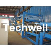 Buy cheap 32KW, 50 - 250mm Rock Wool Insulated Sandwich Panel Line Machine For Prefabricated House product