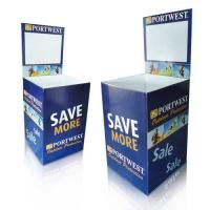 Buy cheap OEM Cardboard Dump Bins for Retail  Promotion , Newspaper display racks product