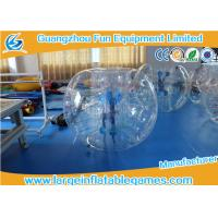 Buy cheap Inflatable Transparent Human Knocker Soccer Body Bumper 1.2m / 1.5m / 1.8m product