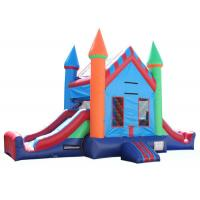 Buy cheap Attractive Inflatable Party City Bounce House , Double Slide Inflatable Moon Bounce product