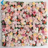Buy cheap Shop Decoration Artificial Vertical Garden , Peony Roses Artificial Flower Wall product