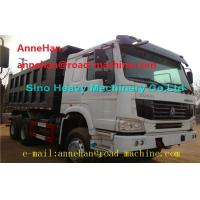 Buy cheap EuroII 30T 6x4 Cat Dump Truck With Middle Lifting And Q235 Steel Material product