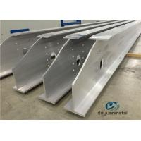 Buy cheap Wide Range Finished Aluminium Construction Profiles 6063 Structural Aluminium Sections product