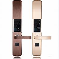 Buy cheap Intelligent Zinc Alloy Fingerprint Door Lock With Super C Class Cylinder product