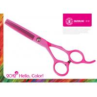 China Color Pink Teflon Coating Convexedge Stainless Steel Professinal Hair Cutting Scissors on sale