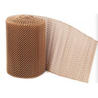 China Golden Color Aluminum Metal Mesh Drapery For Decorating Fireplace Mesh Curtain on sale