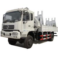 China HOT SALE! dongfeng 4*4 LHD 8T knuckle crane boom mounted on truck, Best price 8tons lorry truck with crane for sale on sale