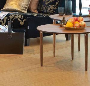 China oak real wood HDF laminate flooring oak veneer laminate click system on sale