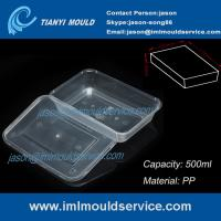 Buy cheap PP 500ml clear thin wall rectangular plastic takeaway food storage mold product