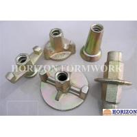 Buy cheap Galvanized Formwork Tie Rod System , Flanged Wing Nut Steel Cone SGS Approval product