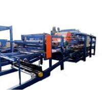 Buy cheap Colored Steel PU Sandwich Panel Production Line , Roof Panel Roll Forming Equipment product