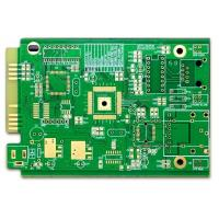 Buy cheap Computer PCB FR-4 4 Layer Pcb Prototype ENIG Green Soldmask White Silkscreen With Gold Finger product