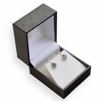 Buy cheap White Flocked Jewelry Plastic Box Stable Performance 47x52x38mm Size Or Customized product