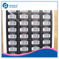 Buy cheap Self Adhesive Barcode Labels , White Barcode Labels In Sheet Form product