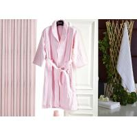 Buy cheap Jacquard Comfortable Hotel Luxury Bath Robes , Women's / Mens Luxury Towelling Bathrobe product