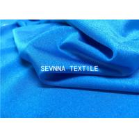 Blue Quick Drying Recycled Swimwear Fabric 152CM Width 340GSM Weight