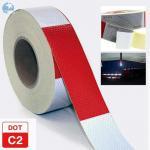 Buy cheap Traffic Emergency DOT Reflective Tape , Dot Trailer Markings 2 Inch x 150 Feet Roll product