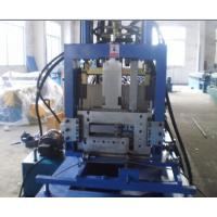 Buy cheap Automatic Change Size  C Z Purlin Making Machine with Automatic PLC Control Hydraulic Punching product