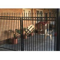 Buy cheap Powder Coated Automatic Driveway Gates Rot Proof For Home / Countyard product
