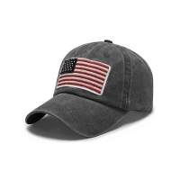 Buy cheap Trucker Curved Brim Six Panel Dad Cap Embroidered USA Logo product