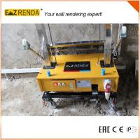Buy cheap Steel Chain Wall Render Products Mechanical Plastering Machine Yellow Colour product