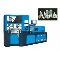 Rotary blow moulding machine for hot filling