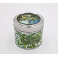 Buy cheap 140g Travel tin soy candles in a tin with color label tin can candle holders product