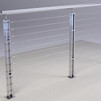 Buy cheap Factory Supply 304 316 Stainless Steel Square Pipe Railing for Stair / Balcony product