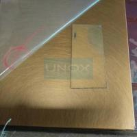Buy cheap Anti Scratch Hand Hairline Copper Bronze Stainless Steel Sheet 304-Copper Plating Stainless Steel Decor Sheets product