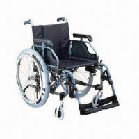 Buy cheap Wheelchair with Adjustable Aluminum Chair Frame product
