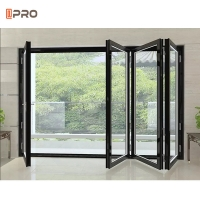 Buy cheap Accordion Bifold Sliding Patio Doors Moskito Scrin Design 1.2mm--2.0mm Thickness product