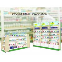 Buy cheap Retail Metal Drugstore Pharmacy Gondola Shelving Eye Catching 1-7 Layers product